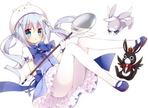 Rating: Safe Score: 67 Tags: animal anko_(gochuumon_wa_usagi_desu_ka?) aqua_eyes blush bow gloves gochuumon_wa_usagi_desu_ka? hoshi_(snacherubi) kafuu_chino loli long_hair pantyhose rabbit skirt tippy_(gochiusa) twintails wild_geese User: RyuZU