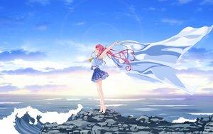 Rating: Safe Score: 163 Tags: barefoot clouds deep_blue_sky_&_pure_white_wings misaki_kurehito miyamae_tomoka pink_hair ponytail scenic school_uniform sky vector water User: gnarf1975