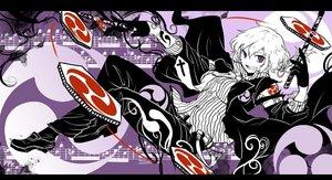 Rating: Safe Score: 105 Tags: cross gloves horikawa_raiko music purple_eyes shigureru tie touhou white_hair User: STORM