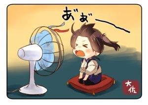 Rating: Safe Score: 34 Tags: anthropomorphism brown_hair chibi japanese_clothes kaga_(kancolle) kantai_collection long_hair ponytail taisa_(kari) User: RyuZU