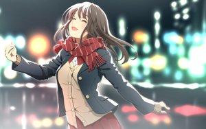 Rating: Safe Score: 138 Tags: brown_hair original scarf school_uniform skirt tears yoshino_ryou User: RyuZU