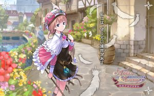 Rating: Safe Score: 38 Tags: atelier_rorona blue_eyes brown_hair building cape dress feathers flowers hat rororina_fryxell staff water User: w7382001