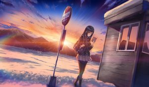 Rating: Safe Score: 53 Tags: black_hair book boots clouds emily game_cg long_hair marmalade omaezaki_yuu panties pantyhose red_eyes scenic school_uniform skirt sky snow study_§_steady sunset tie underwear User: RyuZU