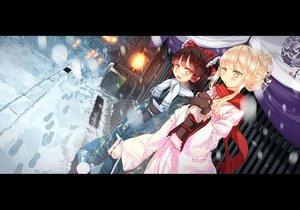 Rating: Safe Score: 71 Tags: 2girls garnet gloves hakurei_reimu japanese_clothes kimono kirisame_marisa scarf snow touhou winter User: opai