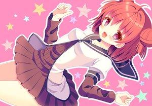 Rating: Safe Score: 92 Tags: akaza_akari hazakura_satsuki pink_hair purple_eyes school_uniform yuru_yuri User: mattiasc02