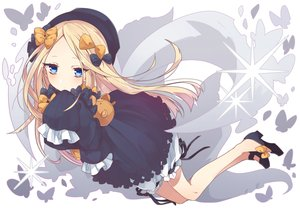Rating: Safe Score: 57 Tags: abigail_williams_(fate/grand_order) aqua_eyes blonde_hair bow butterfly dress fate/grand_order fate_(series) goth-loli hat loli lolita_fashion long_hair ribbons tagme_(artist) User: BattlequeenYume