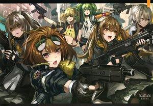 Rating: Safe Score: 77 Tags: anthropomorphism black_eyes blonde_hair blue_eyes brown_eyes brown_hair girls_frontline gloves green_hair grizzly_mkv_(girls_frontline) gun infukun long_hair m950a_(girls_frontline) red_eyes scan short_hair skorpion_(girls_frontline) twintails ump-45_(girls_frontline) ump-9_(girls_frontline) vector_(girls_frontline) weapon yellow_eyes User: RyuZU