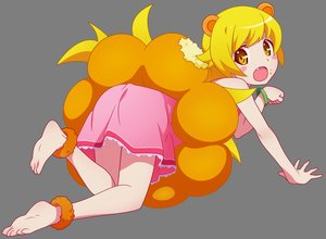 Rating: Safe Score: 48 Tags: animal_ears bakemonogatari barefoot blonde_hair blush dress fang loli long_hair monogatari_(series) oshino_shinobu transparent vector yellow_eyes User: RyuZU