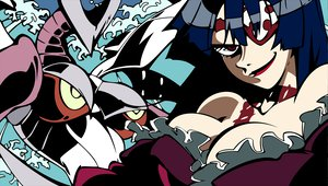 Rating: Safe Score: 35 Tags: adiane black_hair breasts brown_eyes cleavage eyepatch gainax mecha robot tengen_toppa_gurren_lagann vector User: Oyashiro-sama