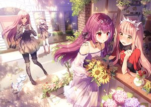 Rating: Safe Score: 152 Tags: aliasing animal blush building cape dress drink fate/grand_order fate_(series) flowers fou_(fate/grand_order) group hat leaves long_hair mash_kyrielight medb_(fate/grand_order) necklace pantyhose phone pink_hair purple_eyes purple_hair red_eyes rose rosuuri scathach_(fate/grand_order) short_hair sunflower tiara watermark yellow_eyes User: BattlequeenYume