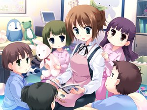 Rating: Safe Score: 3 Tags: apron game_cg harukazedori_ni_tomarigi_wo_2nd_story kawakoshi_saeko User: korokun