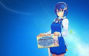 Rating: Safe Score: 82 Tags: apron blue blue_eyes blue_hair blush bow headband jpeg_artifacts madobe_nanami microsoft os-tan short_hair wakaba windows User: gnarf1975