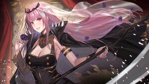 Rating: Safe Score: 22 Tags: breasts cape cleavage deras flowers headdress hololive long_hair mori_calliope petals pink_eyes pink_hair rose scythe tiara weapon User: BattlequeenYume