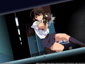 Rating: Safe Score: 17 Tags: black_hair gun jpeg_artifacts noir short_hair weapon yuumura_kirika User: happygestapo