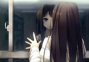 Rating: Safe Score: 216 Tags: ayase_sayuki black_hair dengeki_hime kantoku rain seifuku your_diary User: Wiresetc
