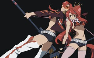 Rating: Safe Score: 33 Tags: black tagme tengen_toppa_gurren_lagann thighhighs vector yoko_littner User: Oyashiro-sama