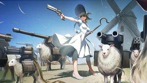 Rating: Safe Score: 179 Tags: animal dress gun hat kriss_sison original sheep staff weapon windmill witch_hat User: Flandre93