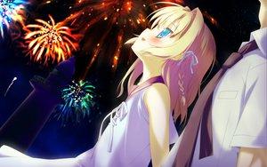 Rating: Safe Score: 58 Tags: blonde_hair blue_eyes blush dress favorite fireworks game_cg irotoridori_no_hikari irotoridori_no_sekai night nikaidou_ai ribbons shida_kazuhiro short_hair User: Maboroshi
