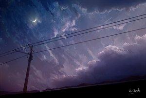 Rating: Safe Score: 43 Tags: alpcmas clouds dark moon night original polychromatic signed sky stars User: mattiasc02