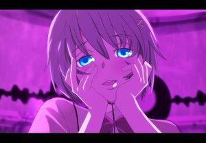 Rating: Safe Score: 73 Tags: close mahou_shoujo_madoka_magica miki_sayaka mirai_nikki parody purple User: w7382001
