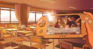 Rating: Safe Score: 167 Tags: elsee_de_ruth_ima game_console kami_nomi_zo_shiru_sekai katsuragi_keima male sunset wakaki_tamiki User: gnarf1975