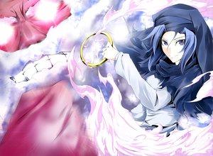 Rating: Safe Score: 31 Tags: blue_eyes blue_hair clouds kanaria_(artist) kumoi_ichirin short_hair touhou unzan User: PAIIS