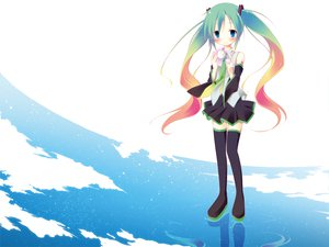 Rating: Safe Score: 34 Tags: hatsune_miku ichihina thighhighs twintails vocaloid User: opai