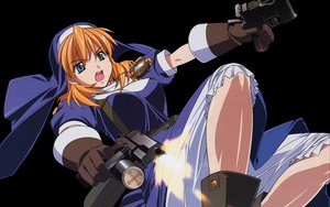 Rating: Safe Score: 11 Tags: chrono_crusade gun nun rosette_christopher weapon User: Oyashiro-sama