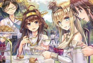 Rating: Safe Score: 139 Tags: anthropomorphism aqua_eyes black_eyes black_hair blonde_hair bow breasts brown_hair cake cleavage clouds drink food fruit glasses group haruna_(kancolle) headband hiei_(kancolle) hms_warspite_(kancolle) japanese_clothes kantai_collection kirishima_(kancolle) kongou_(kancolle) kotatsu_(kotatsu358) long_hair necklace purple_eyes ribbons short_hair sky strawberry tree User: RyuZU