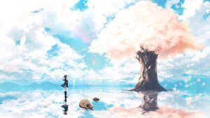 Rating: Safe Score: 54 Tags: c.c.r_(ccrgaoooo) cherry_blossoms clouds flowers guitar instrument kneehighs original petals scenic seifuku sky tree vocaloid User: FormX