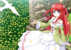 Rating: Safe Score: 59 Tags: animal bird blue_eyes flowers kazenokaze long_hair red_hair re:zero_kara_hajimeru_isekai_seikatsu thearesia_van_astrea User: luckyluna