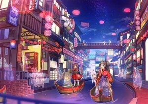 Rating: Safe Score: 20 Tags: animal animal_ears aqua_eyes blush boat brown_eyes brown_hair building cat catgirl cherim city clouds fang festival food group japanese_clothes loli long_hair night original purple_eyes reflection short_hair sky stars tail twintails water white_hair User: RyuZU
