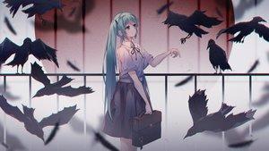 Rating: Safe Score: 34 Tags: animal bird hatsune_miku qi_zhong_ji school_uniform vocaloid User: mattiasc02