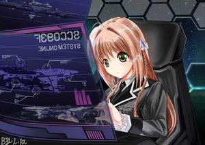 Rating: Safe Score: 78 Tags: brown_hair green_eyes lita_(keyboard000) long_hair military space tagme uniform User: gnarf1975