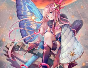 Rating: Safe Score: 68 Tags: aqua_eyes boots breasts cape choker cleavage cropped elbow_gloves gloves long_hair magical_mirai_(vocaloid) megurine_luka pink_hair pisuke vocaloid wristwear User: otaku_emmy