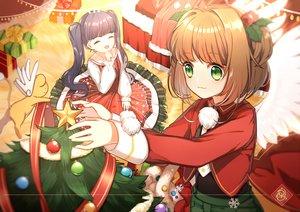Rating: Safe Score: 31 Tags: card_captor_sakura christmas daidouji_tomoyo kero kinomoto_sakura youli_(yori) User: RyuZU