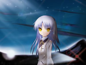 Rating: Safe Score: 34 Tags: angel_beats! belmayze jpeg_artifacts long_hair school_uniform tachibana_kanade white_hair yellow_eyes User: Kumacuda