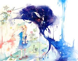 Rating: Safe Score: 49 Tags: animal blonde_hair blue_eyes dress fish flowers kneehighs kyang692 original ribbons water white User: ddaedalus