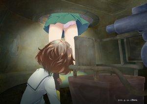 Rating: Safe Score: 128 Tags: 2girls akiyama_yukari brown_hair cameltoe combat_vehicle girls_und_panzer mokyutan nishizumi_miho panties short_hair signed skirt underwear upskirt User: FormX