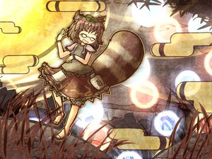 Rating: Safe Score: 41 Tags: akihiyo animal_ears brown_hair futatsuiwa_mamizou glasses touhou User: Black_Rock_Shooter