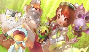 Rating: Safe Score: 33 Tags: animal brown_eyes brown_hair chewtle green322 grookey growlithe hat meowth noibat pokemon short_hair shorts yamper yuuri_(pokemon) User: RyuZU