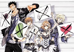 Rating: Safe Score: 47 Tags: bandage black_hair blonde_hair blue_eyes brown_eyes brown_hair chain choker clamp collar dress eyepatch fay_d_flourite green_eyes group kurogane male navel necklace red_eyes sakura_(tsubasa) scan short_hair syaoran torn_clothes tsubasa_reservoir_chronicle wristwear User: Tensa