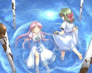 Rating: Safe Score: 21 Tags: aino_ai aria blue green_hair mizunashi_akari pink_hair ribbons water User: HawthorneKitty
