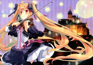 Rating: Safe Score: 47 Tags: dress instrument long_hair moon twintails violin yashiro_seika User: HawthorneKitty