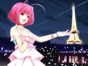 Rating: Safe Score: 51 Tags: choker dress kami_nomi_zo_shiru_sekai nakagawa_kanon night pink_eyes pink_hair short_hair tagme_(artist) User: luckyluna