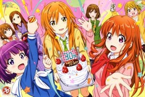 Rating: Safe Score: 13 Tags: blush brown_eyes brown_hair cake drink food fruit group japanese_clothes kneehighs koufuku_graffiti long_hair machiko_akira machiko_ryou morino_kirin newtype orange_hair pink_eyes purple_eyes purple_hair scan shiina_(koufuku_graffiti) shiotsuki_kazuya short_hair strawberry tie tsuyuko_(koufuku_graffiti) uchiki_yuki watermark yellow_eyes User: RyuZU