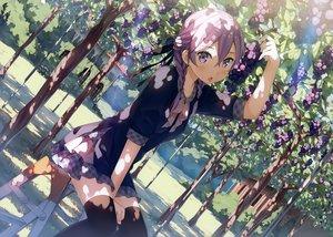Rating: Safe Score: 220 Tags: blush braids food fruit kantoku purple_eyes purple_hair scan short_hair thighhighs tree twintails User: RyuZU