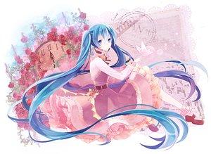 Rating: Safe Score: 20 Tags: blue_eyes blue_hair choker dress flowers hatsune_miku long_hair t_miyanagi twintails vocaloid User: FormX