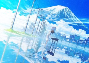 Rating: Safe Score: 44 Tags: brown_hair building city clouds dress instrument mocha_(cotton) original piano reflection scenic short_hair signed sky water User: sadodere-chan