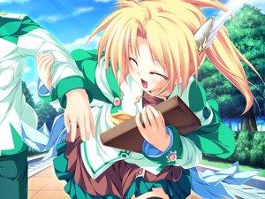Rating: Safe Score: 7 Tags: blonde_hair game_cg magus_tale rena_geminis school_uniform tenmaso tree whirlpool User: Oyashiro-sama